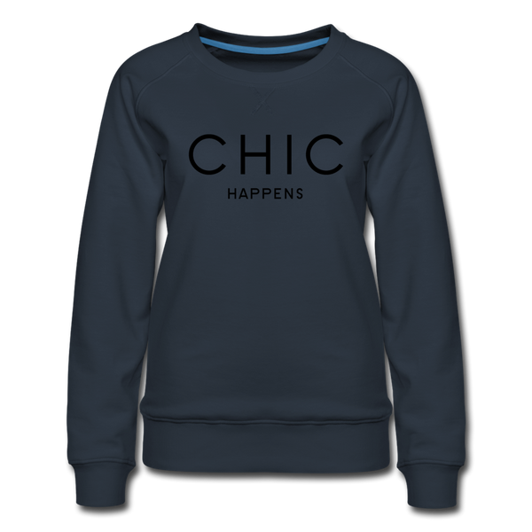 Chic Happens Sweatshirt - Navy