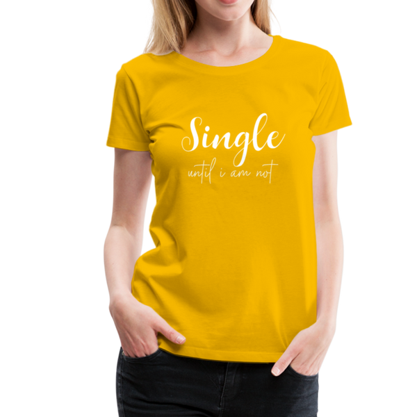 Single T-Shirt - Sonnengelb