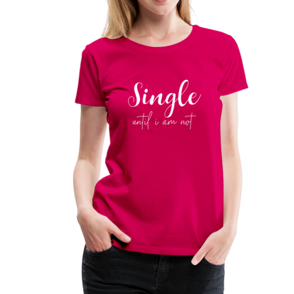 Single T-Shirt - dunkles Pink