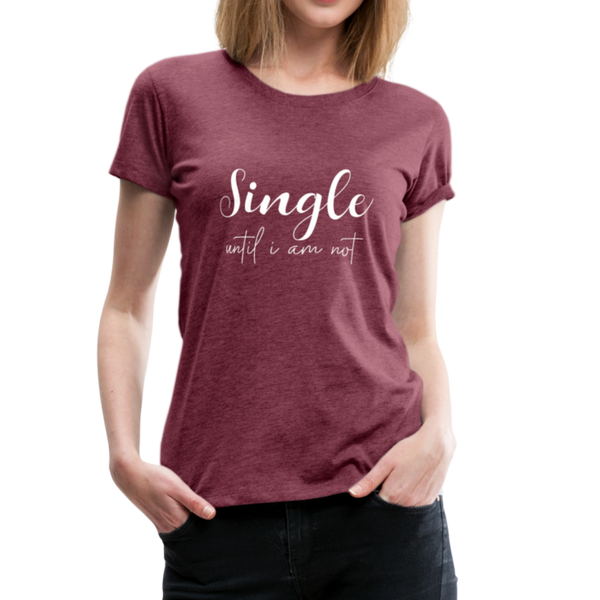 Single T-Shirt - Bordeauxrot meliert