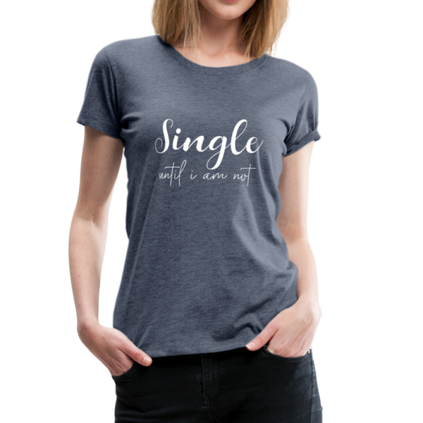 Single T-Shirt - Blau meliert