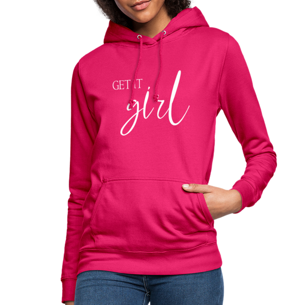 Get it Girl Hoodie - dark pink