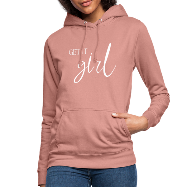 Get it Girl Hoodie - dusky rose