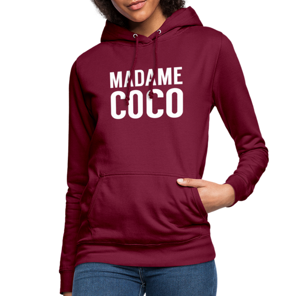 Madame Coco Hoodie - bordeaux