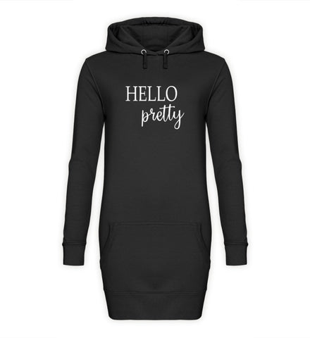 PM FASHION WOMEN® Hello pretty  - Damen Hoodie-Kleid - PM FASHION®