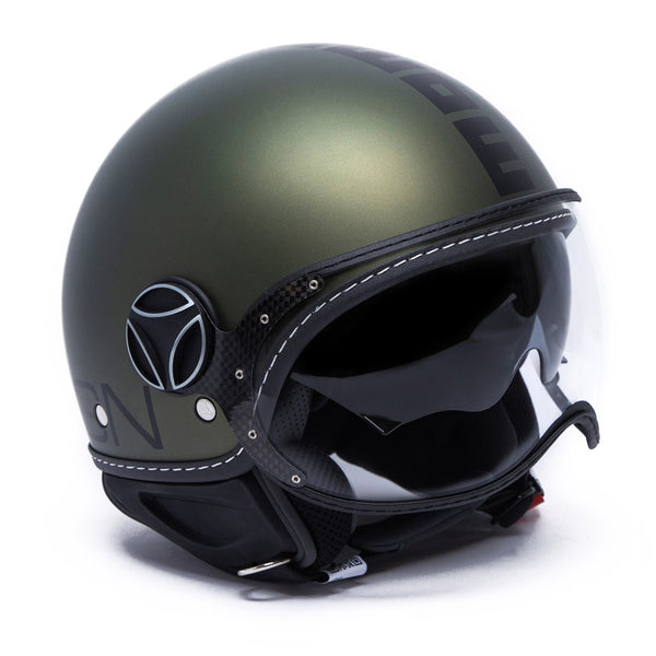 DEMI JET HELMET FGTR EVO MILITARY GREEN MATT METAL