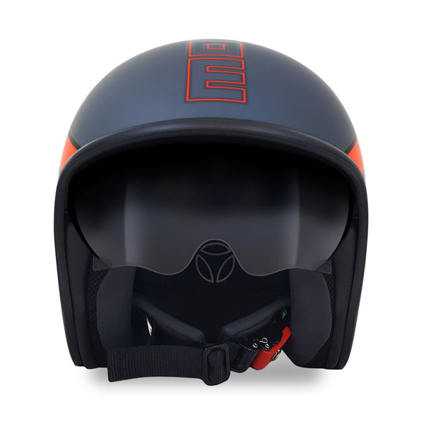 JET HELMET RAPTOR Matte Grey Orange