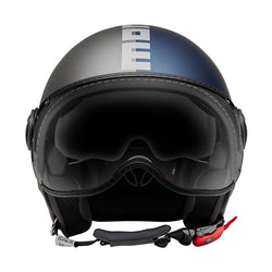 DEMI JET HELMET FGTR EVO JOKER Blue Clear Grey