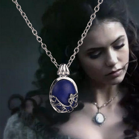 The Vampire Diaries necklace vintage Katherine pendant fashion movie jewelry cosplay for women wholesale