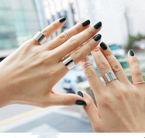 6Pcs/lot Fashion Gold and Silver color Finger Knuckle Ring Set    8RD155