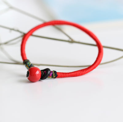Hand made Boho DIY Ceramic beads Charm Bracelets drop shipping wholesale  Retro style bracelet #1422
