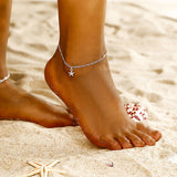 new fashion simple exquisite sea star Charm Foot Bracelet Small starfish anklet beach accessoeies Foot Chain female jewelry ns72