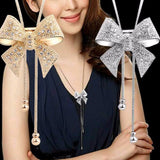 KISSWIFE Fashion Jewelry 2018 Necklace Necklace Long Necklace Bow Style For Ladies Decorations
