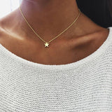 Ahmed Simple Star & Moon Pendant Necklace For Women New Bijoux Maxi Statement Necklaces Collier Fashion Jewelry