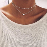 Fashion Alloy Women's Necklaces & Pendants choker necklace 2018 gold color crystal pendant necklace for women Gift wholesale
