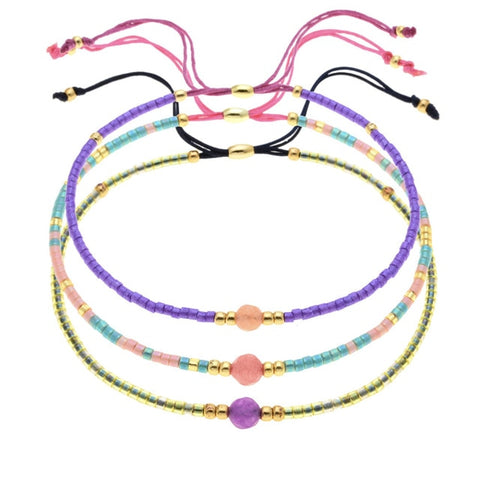 ZMZY Fashion Handmade Bracelets With Miyuki Delica Seed Beads Rope Friendship Bracelets For Women Bohemia Jewelry Drop Shipping