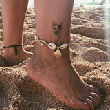 Bohemian Natural Sea Shell Gold Ankle Chains For Women Foot Anklet Bracelet on Leg Female Anklets Sandals Barefoot Beach Jewelry