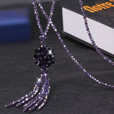 Heeda Korean Crystal Bead Long Necklace Women Sweater Chain Fashion 2019 Kpop Tassel Pendant Necklaces Mother's Day Gift Jewelry