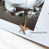2019 New Fashion Gold Boho Alloy Cowrie Shell Necklace for Women Conch Chain Pendant Necklace Summer Jewelry Starfish Collar