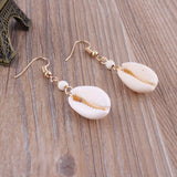 New DIY Sea Shell Pendant Earrings Women Brincos Handmade Gold Color Earrings Statement Gift Jewelry Bohemian Fashion Jewelry