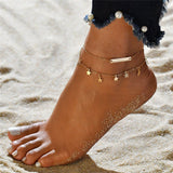 Boho Style Star Anklet Fashion Multilayer Foot Chain 2018 New Ankle Bracelet for Women Beach Accessories Gift