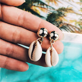 IF YOU Fashion Mixed  Shell Heart Tassel Earrings Set Boho Female Drop Earrings for Women Pendientes Oorbellen Brincos 2019 New