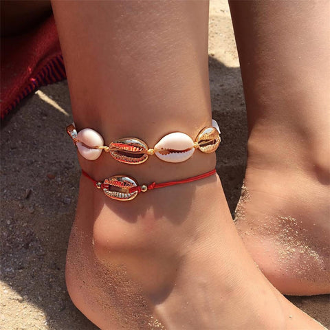 Miss JQ Bohemian Shell Anklets for Women Ankle Bracelet on Leg Shell Foot Jewelry Summer Beach Accessories bransoletka na noge