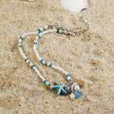 2019 Vintage Shell Beads Anklets For Women New Multi Layer Anklet Leg Bracelet Bohemian Beach Ankle Chain Jewelry Gift