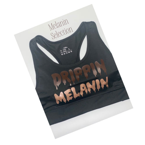 Dripping melanin cropped bra(removable bra pads)