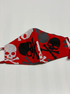 Children's Skull n bones face covering (hallowe'en)