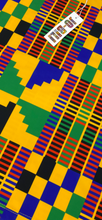 Load image into Gallery viewer, Yellow Kente print leggings