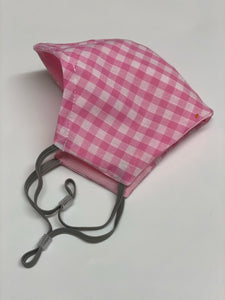Pink Gingham face covering