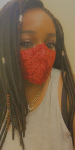 The Red Sequin Mask