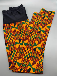 Kente print leggings