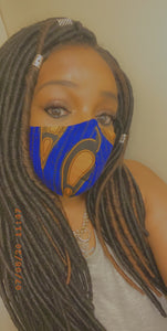 Tear drop African print mask