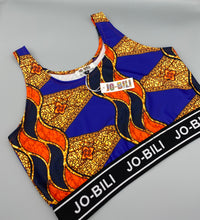 Load image into Gallery viewer, The African Jazzy print cropped top