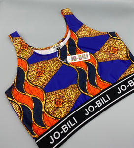 The African Jazzy print cropped top