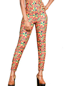 The High Waisted Kente Print Leggings