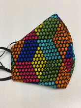 Load image into Gallery viewer, Embroidered mesh rainbow colour face covering