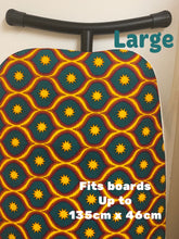 Load image into Gallery viewer, Green/Yellow African/Ankara print iron board cover