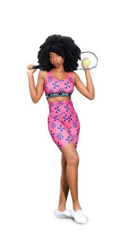 The CandyPink Kente 2 piece set