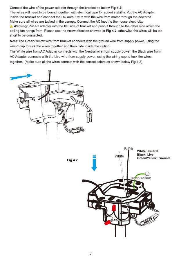 Innovator Smart Ceiling Fan by Carro USA Inc. Installation Manual - Page 7