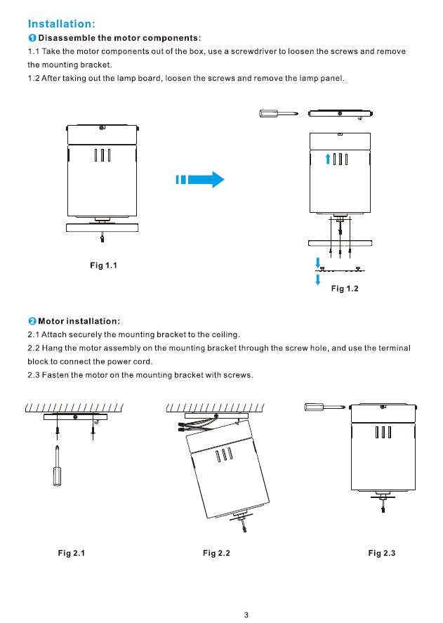 Striver Smart Ceiling Fan Installation Manual - Page 3