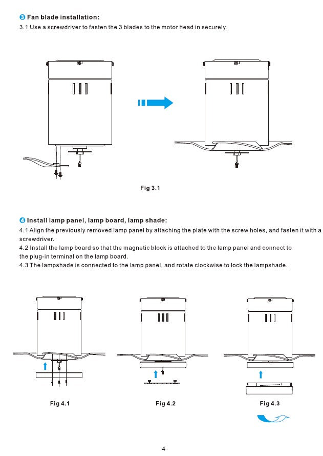 Striver Smart Ceiling Fan Installation Manual - Page 4