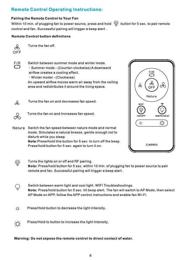 Striver Smart Ceiling Fan Installation Manual - Page 6