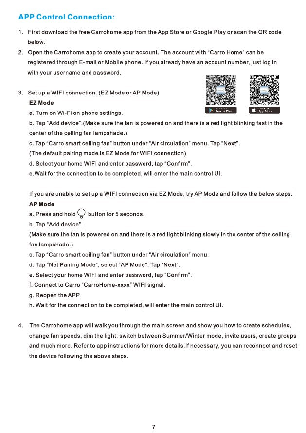 Striver Smart Ceiling Fan Installation Manual - Page 7