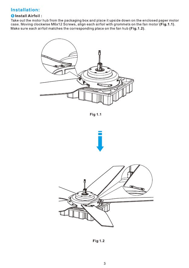 Explorer Smart Ceiling Fan Installation Manual by Carro USA Inc. - Page 3