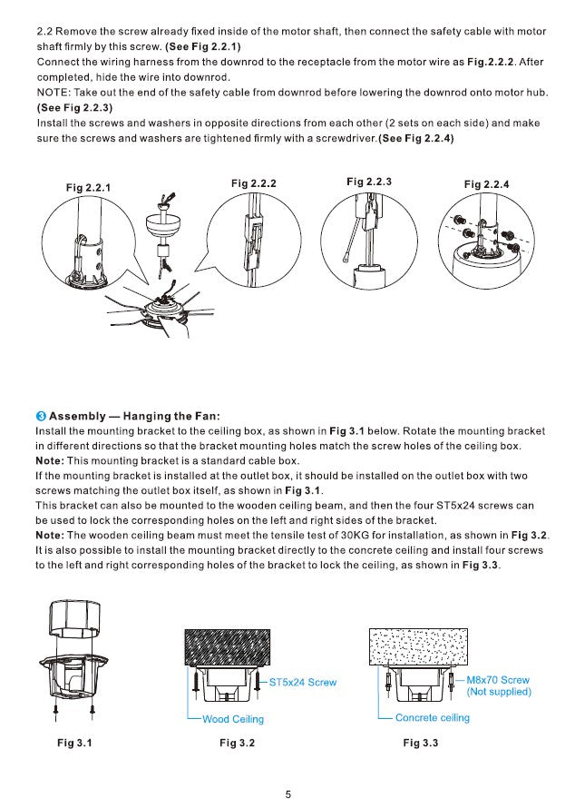 Explorer Smart Ceiling Fan Installation Manual by Carro USA Inc. - Page 5