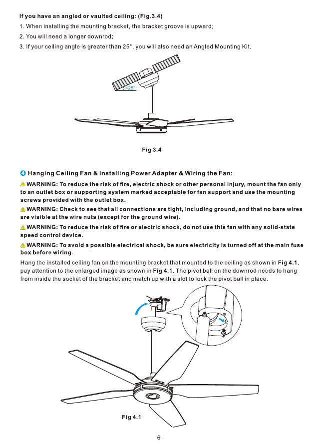 Explorer Smart Ceiling Fan Installation Manual by Carro USA Inc. - Page 6