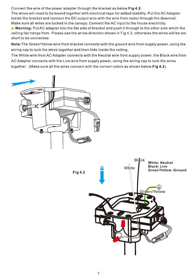 Explorer Smart Ceiling Fan Installation Manual by Carro USA Inc. - Page 7
